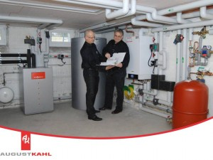 Augustkahl Bivalent Wärmepumpe und Brennwertanlage