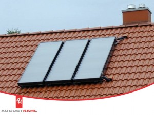 Augustkahl kompakt installation Solarkollektoren